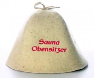 Saunahut Saunakappe Sauna Obensitzer
